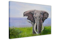 Elephant Beside a River Oil Painting Re-print Framed Canvas Prints Wall Art Deco