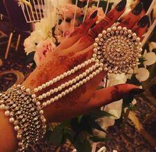 INDIAN Adjustable 1Pear Stone hand bracelet Uptill 2.10/2*12, hath panja, bangle
