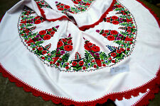 Rare GIANT Hungarian PALOC embroidery Round Tablecloth 160cm  from folk artist