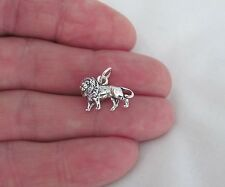 Sterling Silver 3d lion charm