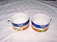 A Pair of Ass't Vintage Japanese made Rosella Soup Advertising Recipe Soup Mugs