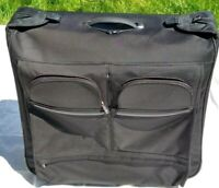 "Tumi Rolling Garment Bag Luggage Suitcase Folding 2 Wheels Black 24"" wide"