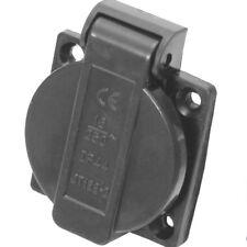 IP44 Schuko 230 / 250V 16A Einbausteckdose Steckdose Spritzwassergeschützt Black