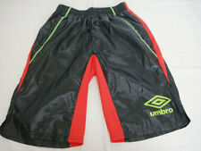 Umbro Shiny Tracksuit Shorts Soccer Futsal Football Practice Training L BNWT BLK