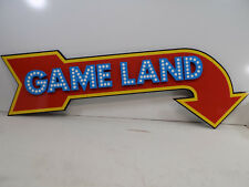 "LARGE 58"" GAME LAND ARROW GAME ROOM ARCADE COMPOSITE SIGN NEW WELL MADE"