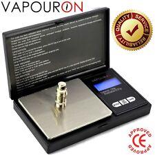 Vapouron 0.01g a 100g Negro LCD de pesaje Flip Top Escala de bolsillo electrónico Min