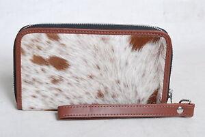 Cowhide Wallet for Women Zip Clutch Purse Clutch Wristlet Wallets  SA-3380