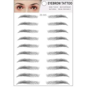 Waterproof 3D Eyebrow Tattoo Hair-like Stick on Brow Makeup Cosmetic Stickers aa