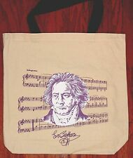 Tote Bag For Sheet Music Or Song Books New Beethoven Ivory
