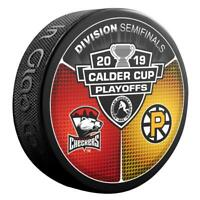 2019 AHL Calder Cup Playoffs Charlotte Checkers v Providence Bruins Hockey Puck