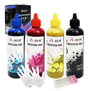 4x120ML Epson Sublimation Ink ET-2720 2760 3760 3720 4760 502 522 T5021 5024 WF