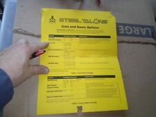 atari steel talons arcade instructions paper