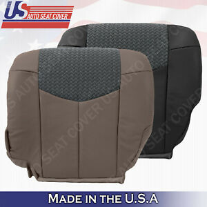 2003 2004 Chevy Avalanche 1500,2500 Driver Bottom Leather Seat Cover Dark Gray