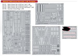 Eduard 1/48 DKM U-boat VIIc U-552 Super Detail Set for Trumpeter