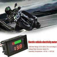 LED Digital Voltmeter 12V-60V Car Marine Motorcycle Battery Voltage Meter W7X9
