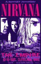Nirvana 1991 - Concert VINTAGE BAND POSTERS Music Rare Rock Blues Old Advert #ob