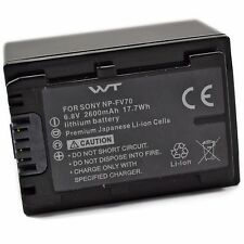 WT-NPFV70 Battery for Sony CX115,CX130,CX150,CX155,CX160,CX190,CX200,CX210,