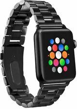 Platinum Stainless Steel BLACK Watch Strap Apple Watch 38 - 40mm