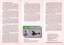 British Phonecard BT Telephone card + brochure Mannock VC pilot