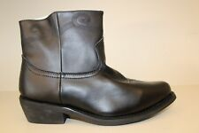 Saddle Tramp Mens Boots Sz 10.5 Black Embroidered Leather Cowboy Western Ankle