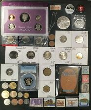 Junk Drawer Lot 🇺🇲 Silver Eagle, 1964 JFK Proof, Sterling Jewelry, PCGS, Cello