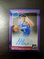 2018/19 PANINI OPTIC SHAI GILGEOUS ALEXANDER RATED ROOKIE RC PURPLE PRIZM AUTO