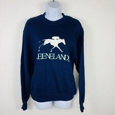 Jerzees Unisex Sweatshirt Sz S Blue Keeneland Horse Racing Track FF96