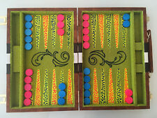 "Blacklight Backgammon Set - Hand Painted - NEW 11"" X 15"" - Functional Art"