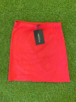 New With Tags Pretty Little Thing Red Jersey Mini Skirt Size Uk 10