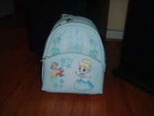 LOUNGEFLY DISNEY CINDERELLA CHIBI MINI BACKPACK~ WITH TAGS~NEW~ BLUE~