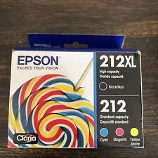 GENUINE Epson 212XL Black, 212 Tri-Colors Ink Cartridges T212XL-BCS (2024) NEW!