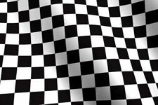 "Checkered Flag Fabric Cotton 1/4"" Checks Nascar Motorcycle Car -DIY Crafts - BTY"