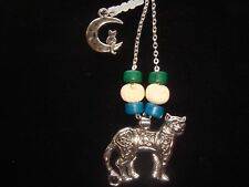 Pagan Celtic Cat Portal Guardian with Kitty Spirit on Moon toggle