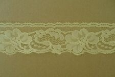 CRAFT-SEWING-LACE 3.5mtrs x 45mm Lemon Yellow Floral Design Lace