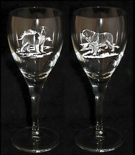 SAINT BERNARD GIFT - Boxed PAIR WINE GLASS *DOG GIFT*