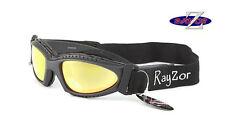 RAYZOR 2n1 UV400 Grey CYCLING MTB GOGGLES SUNGLASSES Gold Mirrored Lens RRP£69