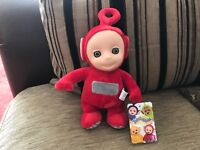 "OFFICIAL TELETUBBIES 8"" TALKING PO SOFT TOY PLUSH NEW TAGS"