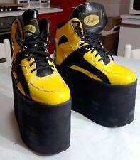 Vintage Buffalo platform tower boots shoes 90s size 38 rave punk goth pvc 15 cm