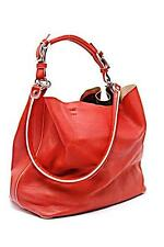"MARNI Red 100% Leather Tote Bag w/Removable Strap+Liner - Handle Too - 11""x 12"""