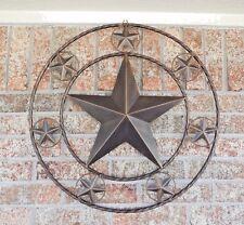 "40"" MULTI STARS LONE STAR BARN METAL WESTERN HOME DECOR WALL ART RUSTIC COPPER"