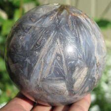 Huge 88mm 2LB 0.5OZ Natural Tree Leaves Agate Crystal Sphere Ball