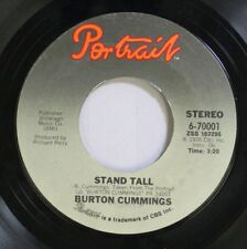 Rock 45 Burton Cummings - Stand Tall / Burch Magic On Portrait