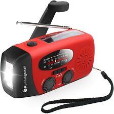 Hand Crank Self Powered AM/FM Solar Weather Radio LED Flashlight, Power Bank