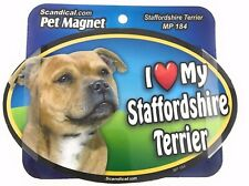 I Love My Staffordshire Terrier Magnet Gifts, Cars,Trucks. Lockers, Refrigerator