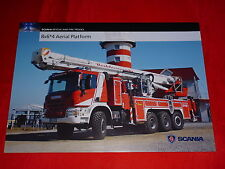 SCANIA Rescue and Fire Trucks Feuerwehr 8x6*4 Aerial Platform Prospektblatt 2015