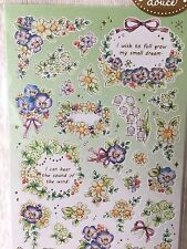 Pensamiento Violeta Flores Pegatinas Scrapbook diario Cardmaking Teléfono Brillante Hazlo tú mismo