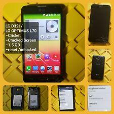 LG Optimus L70 (D321) Black (Cricket) Smartphone