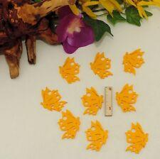 Schmetterlinge aus Filz 4cm 9 Stück in Gelb Geschenk Frühling Streuteile Kinder
