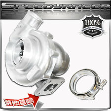"T72 T4 Turbo Charger Twin Scroll Oil Cooled 4"" / 2.5""  & 4"" VBAND Clamp"
