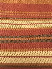 Upholstery Fabric Red Gold Brown Stripe Autumn BTY Polyester